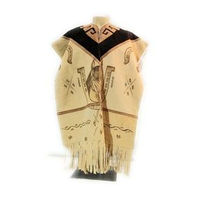 Other - Authentic Mexican Leather Poncho Hand Made Horses